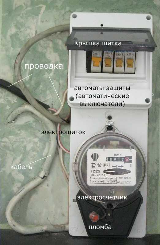 Установка счетчика электроэнергии в гараже