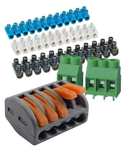 колодки соединительные в распред колодку термобелье