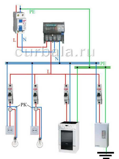 Схемы выключателя электропроводки.